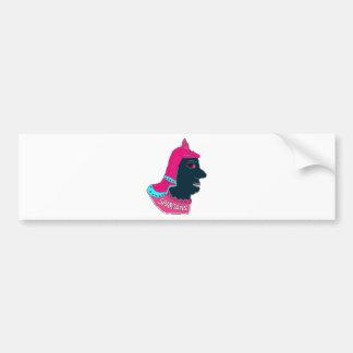 Spartan Head Logo Pink Aqua Black Bumper Stickers