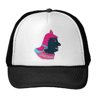 Spartan Head Logo Pink/Aqua/Black Trucker Hat