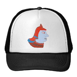 Spartan Head Logo Red/Blue/Aqua Mesh Hats