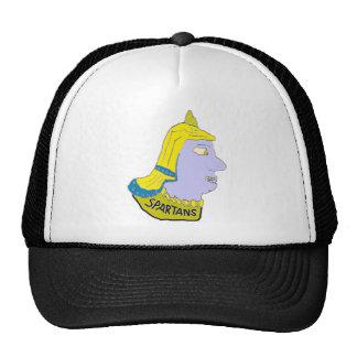 Spartan Head Logo Yellow/Blue/Puce Trucker Hats