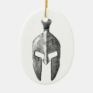 Spartan Helm Ceramic Oval Decoration