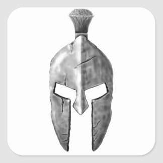 Spartan Helm Square Sticker