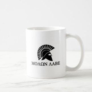 Spartan Helmet Molon Labe Mugs