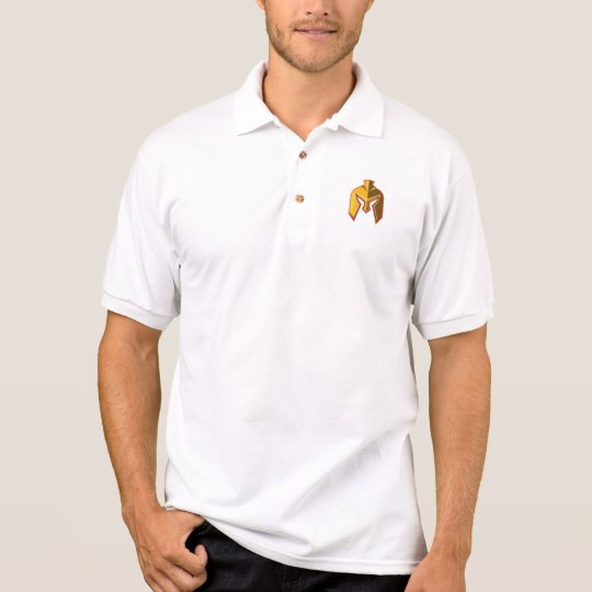 Spartan Helmet Retro Polo Shirt