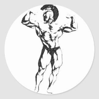 Spartan Muscle Classic Round Sticker
