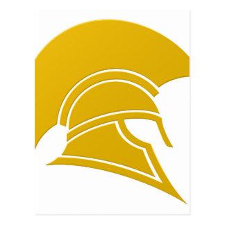Spartan or Trojan helmet icon Postcard