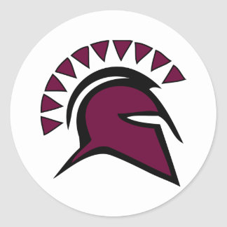 Spartan Warrior Classic Round Sticker
