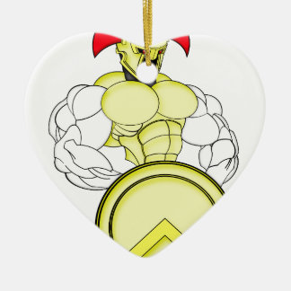 SPARTAN WARRIOR ROBOT CHRISTMAS ORNAMENT