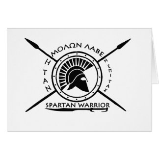 Spartan warrior shield greeting card