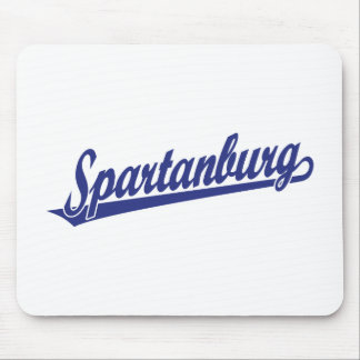 Spartanburg in blue mouse pad