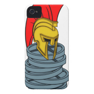 spartan's helmet on weights iPhone 4 covers