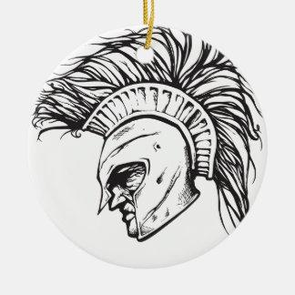 Spartans Round Ceramic Decoration