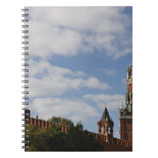 Spasskaya Tower in Red Square, Moscow, Russia Spiral Notebooks