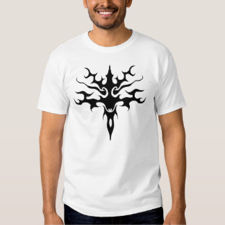 Spawn Flame Tribal Tattoo black and white T Shirt