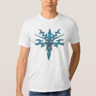 Spawn Flame Tribal Tattoo blue Shirt