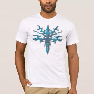 Spawn Flame Tribal Tattoo blue T-Shirt