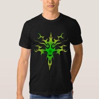 Spawn Flame Tribal Tattoo green Tshirt