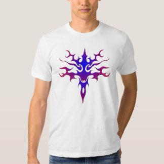 Spawn Flame Tribal Tattoo purple T-shirt