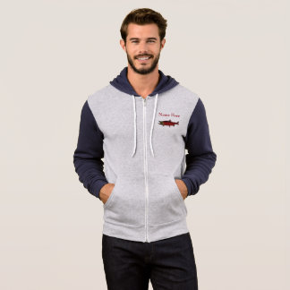 Spawning Salmon - Customisable Two Tone Hoodie