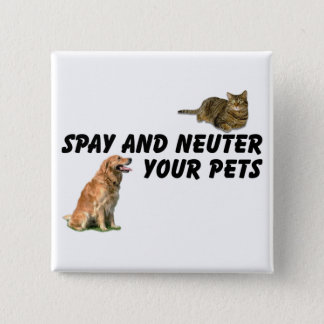 Spay and Neuter 15 Cm Square Badge