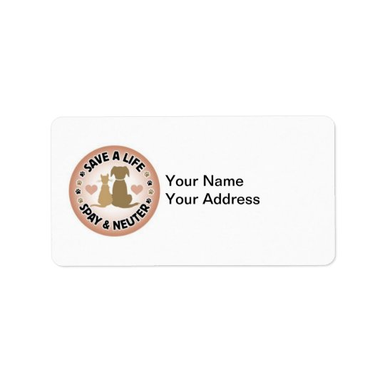 spay and neuter address label