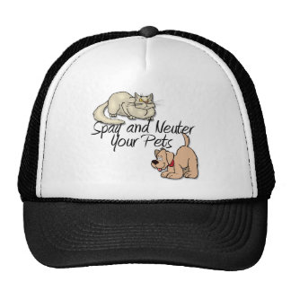 Spay and Neuter Your Pets Mesh Hats