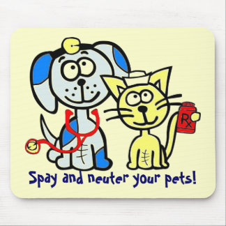 Spay and neuter your pets! mouse mat