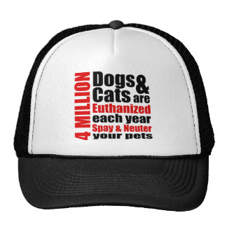 Spay and Neuter Your Pets Trucker Hats