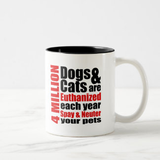 Spay and Neuter Your Pets Two-Tone Mug
