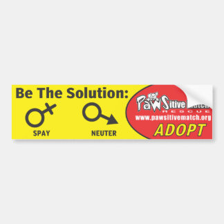 Spay, Neuter, Adopt Bumper Sticker