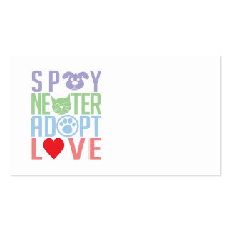 Spay Neuter Adopt Love 2 Double-Sided Standard Business Cards (Pack Of 100)