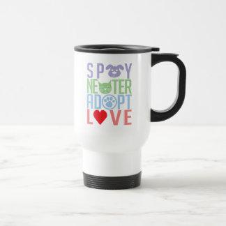 Spay Neuter Adopt Love 2 Stainless Steel Travel Mug