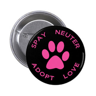 Spay Neuter Adopt Love 6 Cm Round Badge