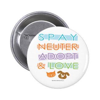Spay Neuter Adopt Love 6 Cm Round Badge