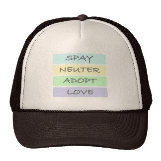 Spay Neuter Adopt Love Mesh Hats
