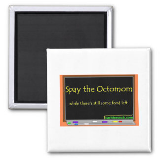 Spay the octomom square magnet