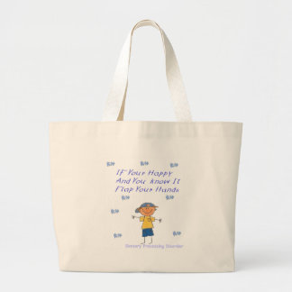 SPD Flap your hands Large Tote Bag