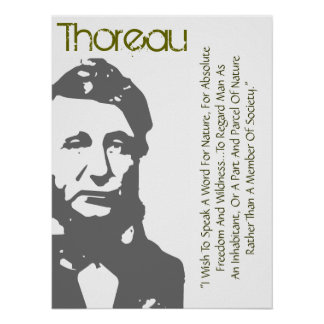 Speak A Word For Nature Thoreau Poster