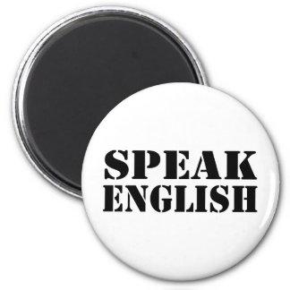 Speak English 6 Cm Round Magnet