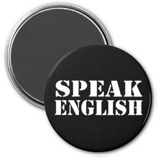 Speak English 7.5 Cm Round Magnet