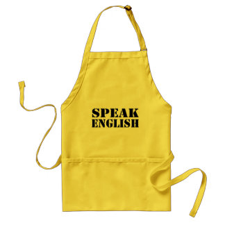 Speak English Adult Apron