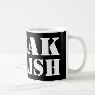 Speak English Basic White Mug