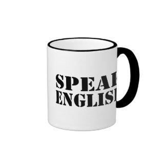 Speak English Ringer Coffee Mug