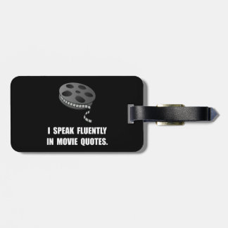 Speak Movie Quotes Luggage Tag