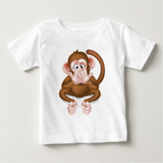 Speak No Evil Cartoon Wise Monkey Baby T-Shirt