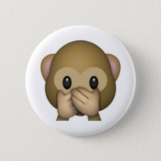 Speak No Evil Monkey - Emoji 6 Cm Round Badge