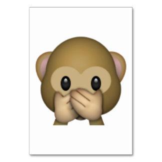 Speak No Evil Monkey - Emoji Card