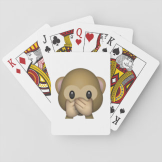Speak No Evil Monkey - Emoji Playing Cards