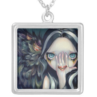 Speak No Evil NECKLACE gothic surrealism