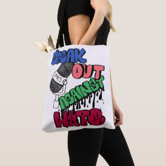 Speak Out Against Hate Stylish Tote